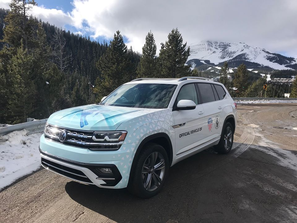 The PSIA-AASI custom wrapped Volkswagen Atlas