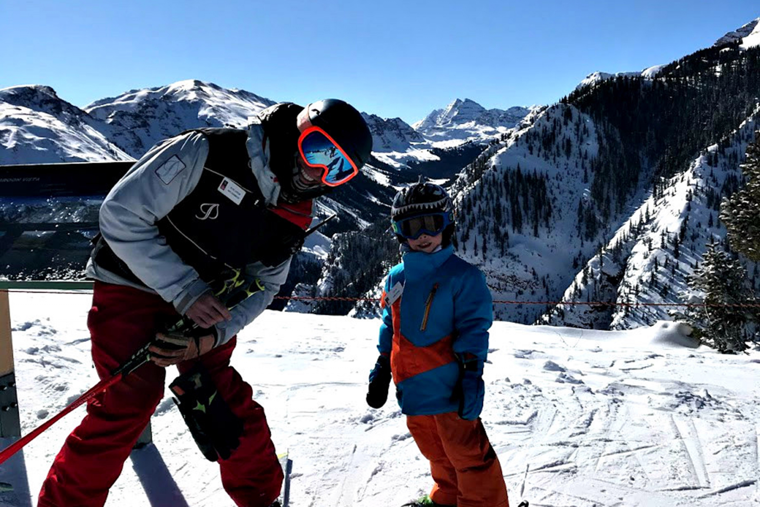 Aspen Snowmass ski instructor Kevin Jordan and his son