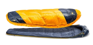 The North Face ONE sleeping bag ready for 20 degree temperatures.