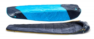 The North Face ONE sleeping bag ready for 40 degree temperatures.