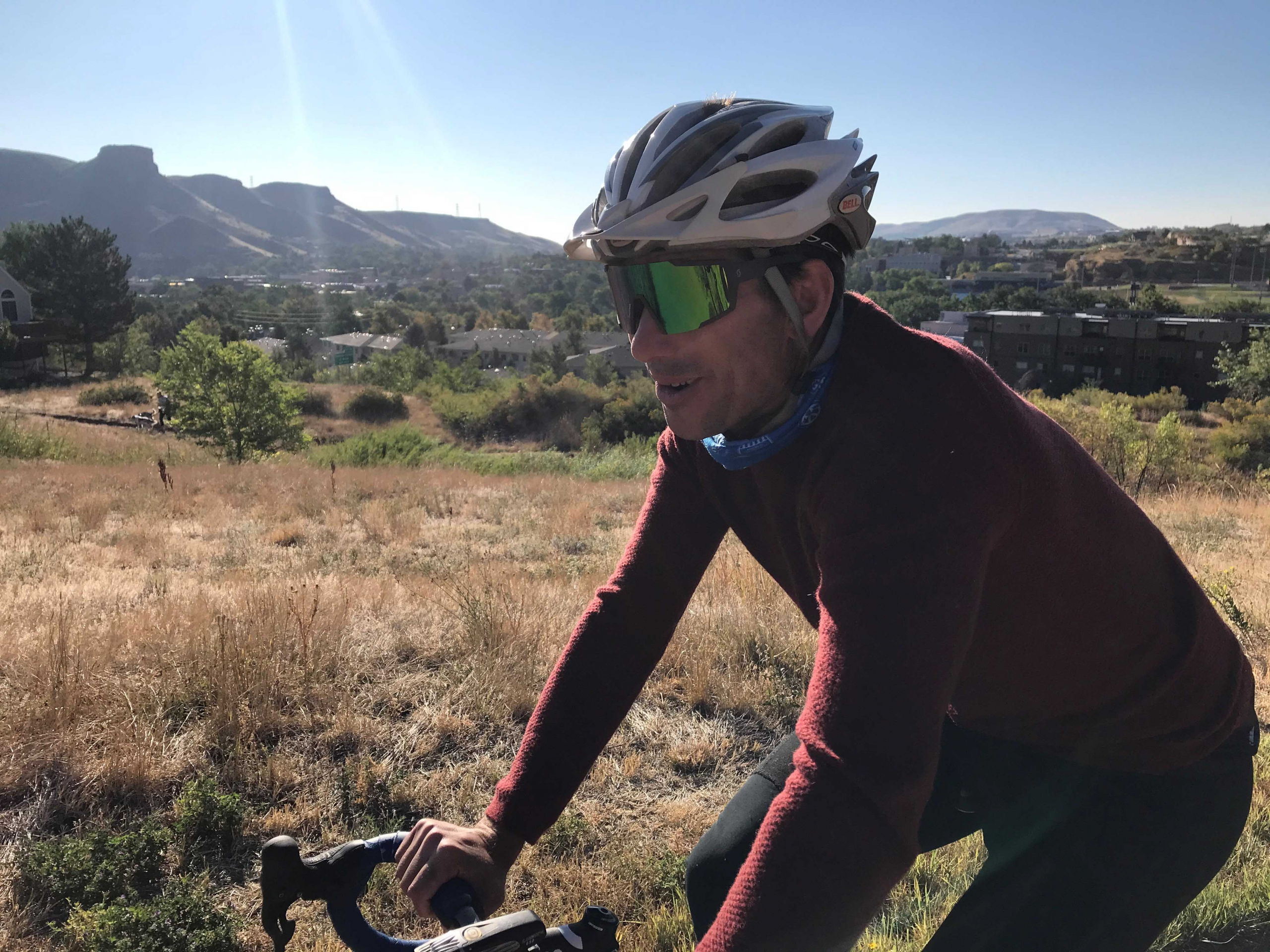 PSIA-AASI CEO Nick Herrin on a bike ride in Golden Colorado