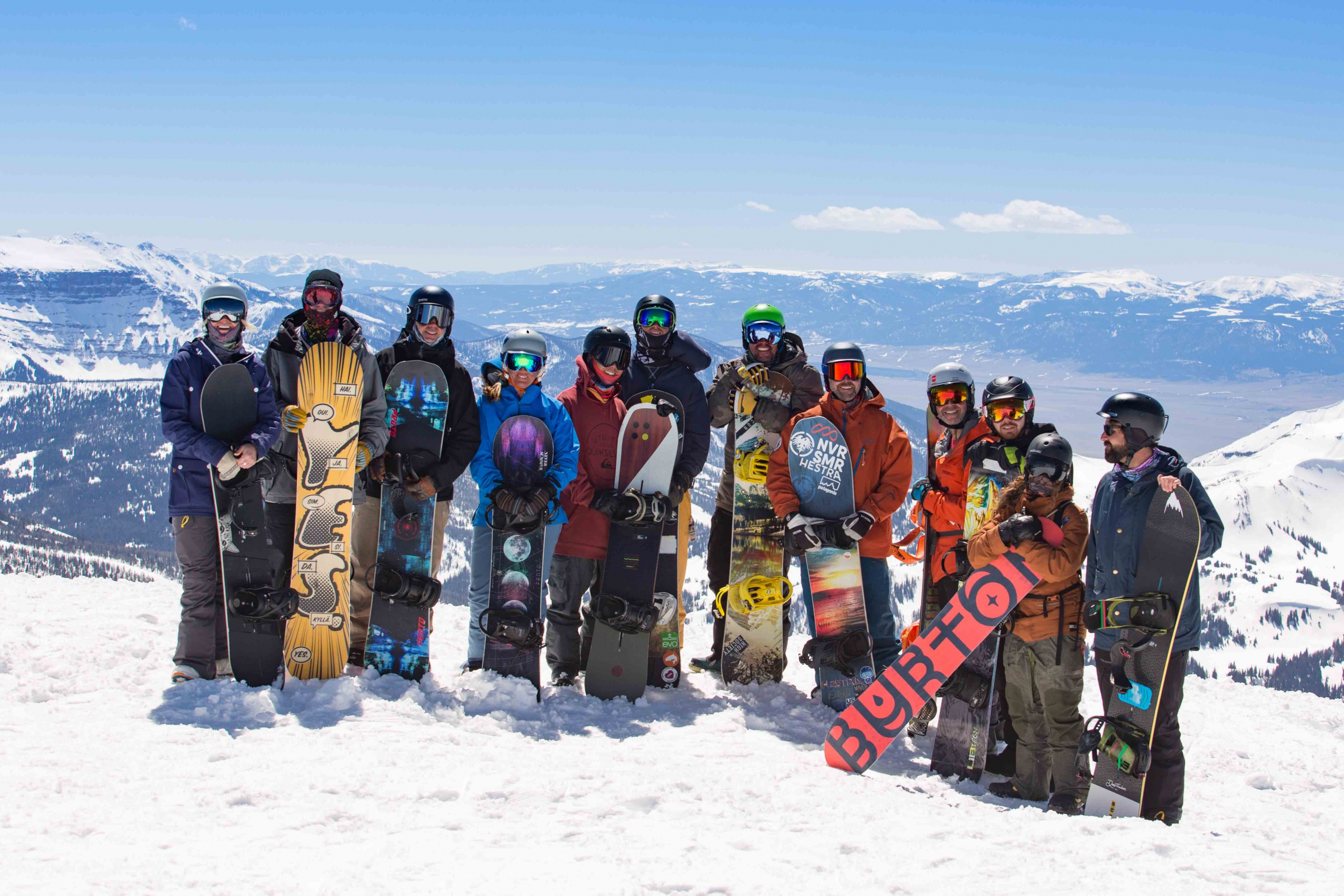Snowboarders at Rider Rally 2019