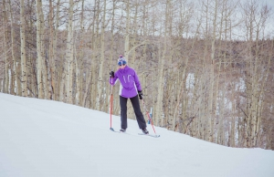A teen learns to cross country ski